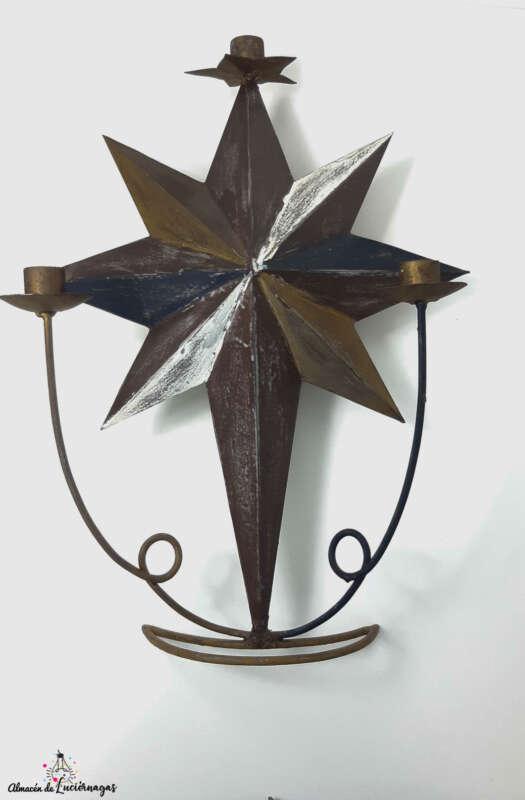 Candelabro artesanal Estrella- Almacén de Luciérnagas