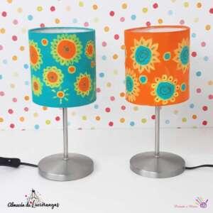 lamparas recicladas y pintadas a mano